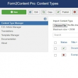 The Content Type manager